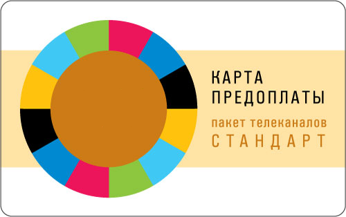 Карта оплаты пакета СТАНДАРТ - 12 месяца.